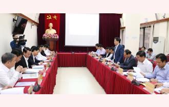 Lãnh đạo hai tỉnh Yên Bái và Hà Giang làm việc với Bộ Giao thông Vận tải về tuyến nối Hà Giang với cao tốc Nội Bài - Lào Cai
