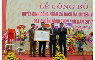 Xã Bạch Hà đón Bằng công nhận đạt chuẩn nông thôn mới