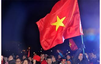 Cổ động viên Yên Bái hết mình vì đội tuyển Việt Nam