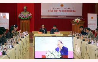 Yên Bái tham dự Lễ khai trương Cổng dịch vụ công quốc gia