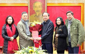 Thường trực Tỉnh ủy gặp mặt Đoàn đại biểu tỉnh dự Đại hội Liên hiệp các Hội Văn học Nghệ thuật Việt Nam