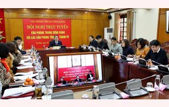Văn phòng Tỉnh ủy Yên Bái dự Hội nghị trực tuyến toàn quốc Văn phòng Trung ương Đảng triển khai nhiệm vụ năm 2021