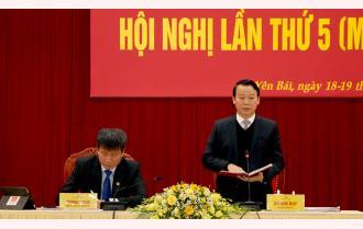 Bế mạc Hội nghị Ban Chấp hành Đảng bộ tỉnh Yên Bái lần thứ 5 (mở rộng): Thông qua 3 nghị quyết chuyên đề