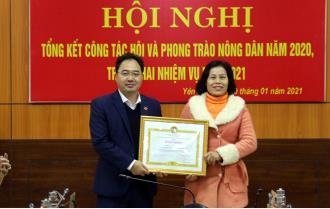 Hội Nông dân Yên Bái: Hoàn thành xuất sắc 10/10 chỉ tiêu được giao theo Chương trình hành động 190 của Tỉnh ủy