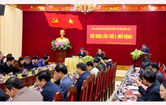 Khai mạc Hội nghị Ban Chấp hành Đảng bộ tỉnh Yên Bái lần thứ 5 (mở rộng)