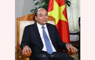 Thủ tướng Nguyễn Xuân Phúc trả lời phỏng vấn báo chí về sự kiện Việt Nam được chọn đăng cai tổ chức Hội nghị thượng đỉnh Mỹ-Triều Tiên lần hai
