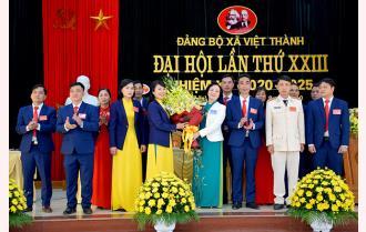 Đại hội điểm Đảng bộ xã Việt Thành lần thứ XXIII, nhiệm kỳ 2020 – 2025 thành công tốt đẹp