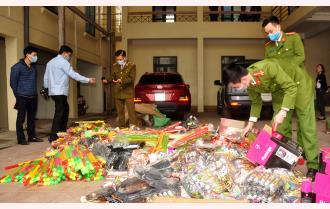 Cục Quản lý thị trường tỉnh Yên Bái tiêu hủy 45 mặt hàng không rõ nguồn gốc, xuất xứ