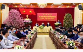 Tỉnh ủy Yên Bái gặp mặt các cơ quan báo chí, tuyên truyền xuân Tân Sửu 2021