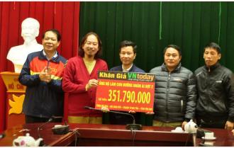 Kênh VietNam Today trao gần 352 triệu đồng ủng hộ