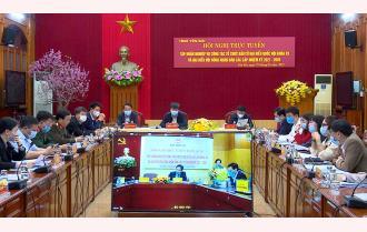 Yên Bái dự Hội nghị trực tuyến tập huấn công tác bầu cử đại biểu Quốc hội và đại biểu HĐND các cấp