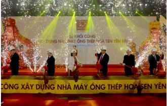 Tưng bừng Lễ khởi công xây dựng Nhà máy Ống thép Hoa Sen Yên Bái