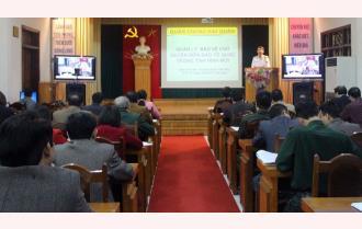 Yên Bái: Hội nghị trực tuyến báo cáo viên Tỉnh ủy tháng 3 chuyên đề biển, đảo