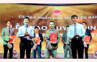 Yên Bái gặp mặt doanh nghiệp, nhà đầu tư đầu năm 2021: Trao quyết định chủ trương đầu tư cho 11 dự án