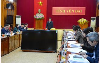 Yên Bái: Hội nghị triển khai công tác chuẩn bị bầu cử đại biểu Quốc hội khóa XV và đại biểu HĐND tỉnh nhiệm kỳ 2021 - 2026