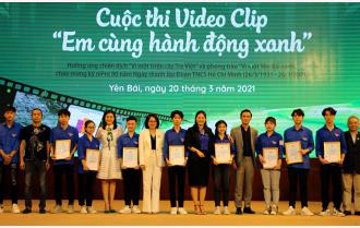 """Tỉnh đoàn Yên Bái: Trao giải hai cuộc thi video clip và vẽ tranh """"Em cùng hành động xanh"""""""