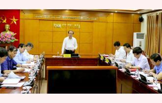 Yên Bái: Giao ban Khối các ban và cơ quan xây dựng Đảng
