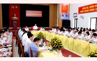 Thường trực Tỉnh ủy làm việc với Ban Chấp hành Đảng bộ huyện Trấn Yên