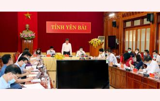 """UBND tỉnh Yên Bái triển khai nhiệm vụ tháng 5: Quyết tâm thực hiện tốt """"mục tiêu kép"""""""