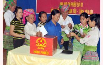 Yên Bái: Tỷ lệ cử tri đi bầu cử đạt 99,99%