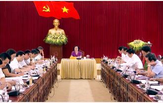Ban Thường vụ Tỉnh ủy duyệt văn kiện Đại hội Đảng bộ huyện Lục Yên lần thứ XXII