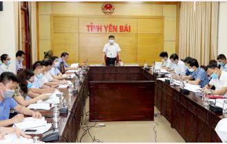 Chủ tịch UBND tỉnh Trần Huy Tuấn làm việc về tiến độ thực hiện kế hoạch đầu tư công và giải ngân vốn xây dựng cơ bản năm 2021