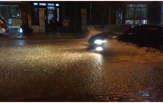 Yên Bái: Mưa lớn gây ngập úng cục bộ một số tuyến đường