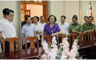 Bí thư Tỉnh ủy Phạm Thị Thanh Trà kiểm tra công tác chuẩn bị Đại hội đại biểu Đảng bộ huyện Văn Yên lần thứ XVI, nhiệm kỳ 2020 - 2025