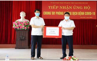Yên Bái: Gần 500 triệu đồng ủng hộ Quỹ phòng, chống COVID–19 của tỉnh