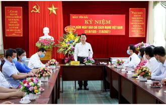Phát biểu của Bí thư Tỉnh ủy Đỗ Đức Duy tại Báo Yên Bái nhân kỷ niệm 96 năm Ngày Báo chí Cách mạng Việt Nam 21/6