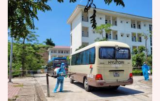 Yên Bái: An toàn phòng dịch trong tiếp nhận lao động từ Bắc Giang trở về