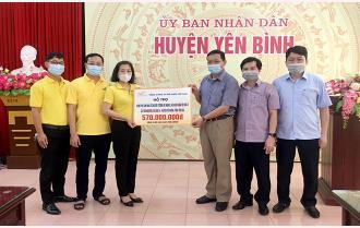 Bộ Thông tin - Truyền thông và Tổng Công ty Bưu điện Việt Nam: Trao 570 triệu đồng hỗ trợ làm nhà tại huyện Yên Bình