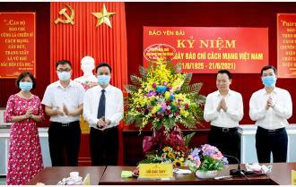 Bí thư Tỉnh ủy Đỗ Đức Duy chúc mừng Báo Yên Bái, Đài Phát thanh- Truyền hình tỉnh nhân kỷ niệm 96 năm Ngày Báo chí cách mạng Việt Nam