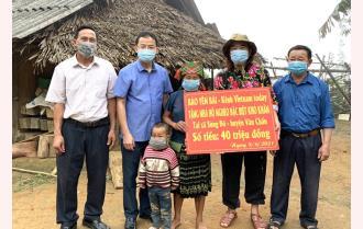 Báo Yên Bái- Kênh VietNam Today trao hỗ trợ xóa nhà dột nát cho hộ đặc biệt khó khăn tại xã Sùng Đô