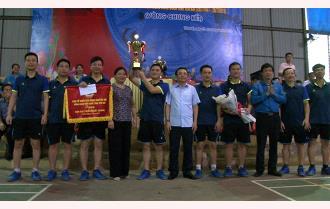 Sở Nội vụ, Sở Văn hóa - Thể thao và Du lịch vô địch Giải Bóng chuyền hơi Công đoàn Viên chức tỉnh Yên Bái năm 2019