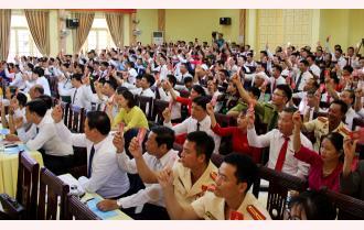 Đại hội đại biểu Đảng bộ huyện Văn Chấn lần thứ XXI: 28 chỉ tiêu chủ yếu; 3 đột phá, 5 chương trình trọng điểm