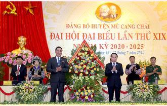 Khai mạc Đại hội đại biểu Đảng bộ huyện Mù Cang Chải lần thứ XIX
