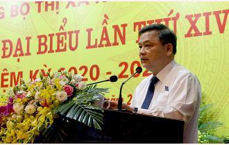 Phát biểu của đồng chí Phó Bí thư Thường trực Tỉnh ủy Dương Văn Thống chỉ đạo Đại hội đại biểu Đảng bộ thị xã Nghĩa Lộ lần thứ XIV