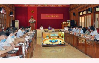 Yên Bái dự họp trực tuyến toàn quốc về phòng, chống dịch bệnh COVID-19
