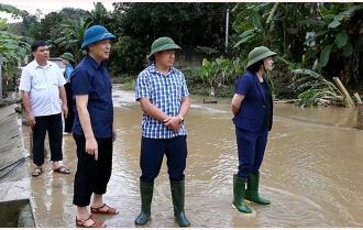 Lãnh đạo tỉnh kiểm tra tình hình mưa lũ tại huyện Lục Yên
