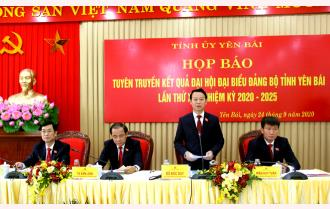 Tỉnh ủy Yên Bái họp báo tuyên truyền kết quả Đại hội Đảng bộ tỉnh lần thứ XIX, nhiệm kỳ 2020 - 2025