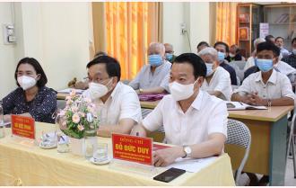 Bí thư Tỉnh ủy Đỗ Đức Duy dự sinh hoạt với Chi bộ 14, Đảng bộ phường Đồng Tâm