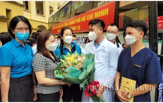 Yên Bái: 40 thầy thuốc lên đường hỗ trợ thành phố Hồ Chí Minh chống dịch Covid-19 đợt 2