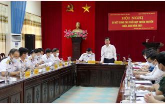 Ban Tuyên giáo Tỉnh ủy Yên Bái và Cục Chính trị Hải quân sơ kết công tác phối hợp tuyên truyền biển, đảo năm 2021