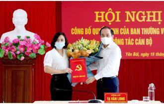 Đồng chí Lê Thị Huệ được bổ nhiệm Phó Hiệu trưởng Trường Chính trị tỉnh Yên Bái