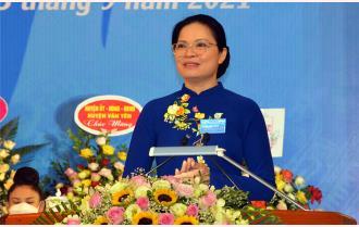 Phát biểu chỉ đạo của Chủ tịch Hội Liên hiệp Phụ nữ Việt Nam Hà Thị Nga tại Đại hội phụ nữ tỉnh Yên Bái lần thứ XVI