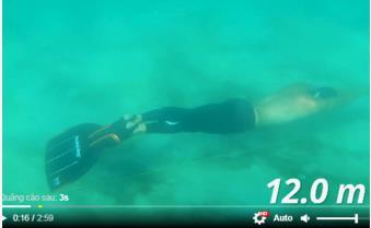 Lặn dài 202m trong một lần thở để lập kỷ lục Guinness thế giới