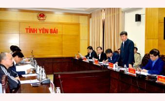 Chủ tịch UBND tỉnh Trần Huy Tuấn làm việc với Hiệp hội Sắn Việt Nam