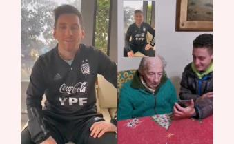 Messi tri ân cổ động viên 100 tuổi