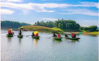 Điểm đến hồ Thác Bà: Tăng cường biện pháp phòng, chống dịch để đón khách